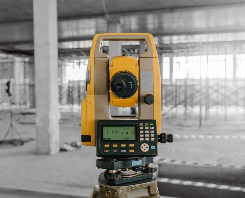 Close up of survey equipment